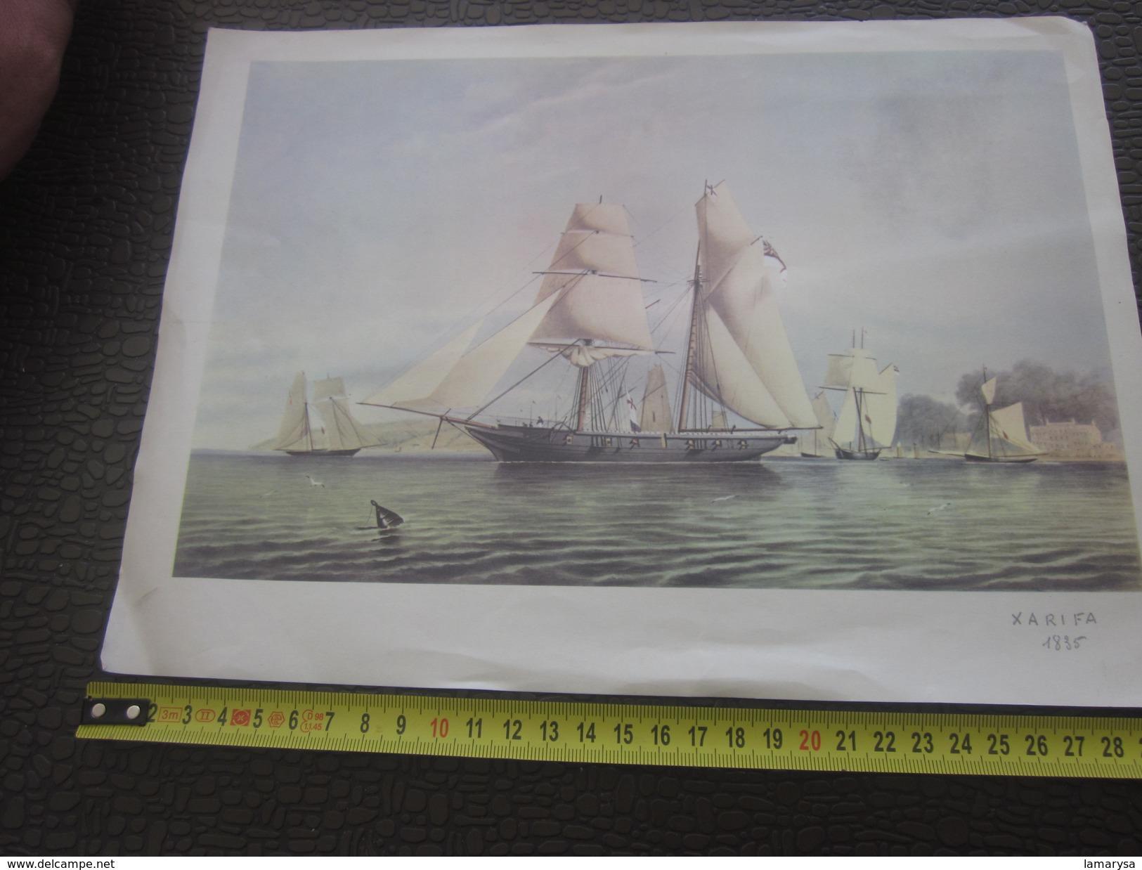 Majestueux Voiliers D'Autrefois XARIFA En Course 1835 Autres Collections-Art & La Voile-Nautique & Maritime - Autres