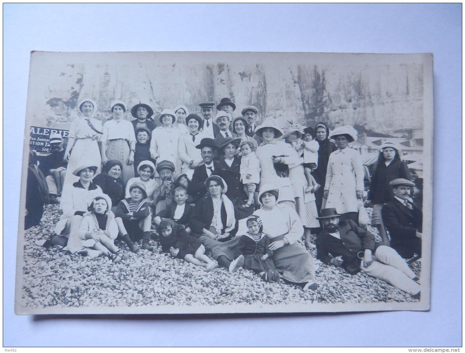 PHOTO CARTES SCENE DE GROUPE  PHOTO MARTIN GOURNAY LE TREPORT - Le Treport