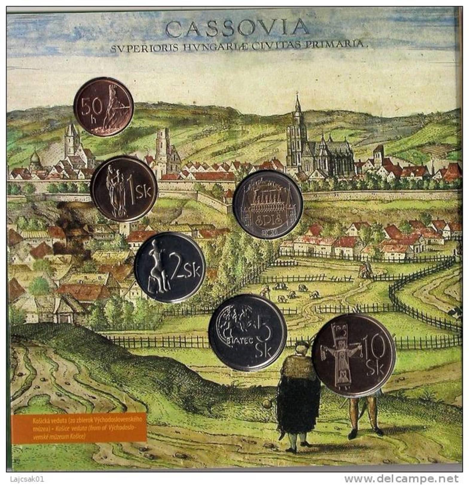 SLOVAKIA 2006. MINT SET COIN SET WITH TOKEN HISTORICAL REGIONS OF SLOVAKIA - Slovacchia