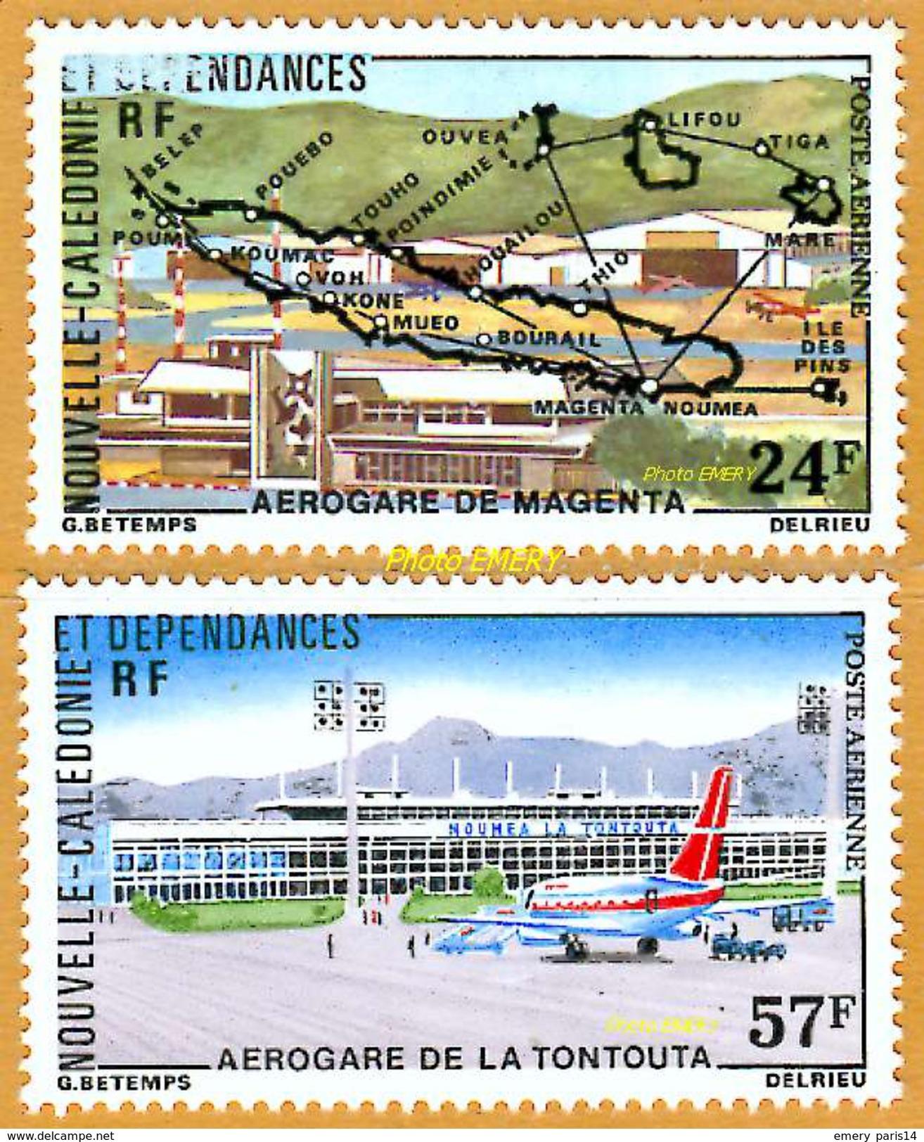 Nouvelle-Calédonie **LUXE 1977 Pa 179 Et 180 Paire - Luchtpost
