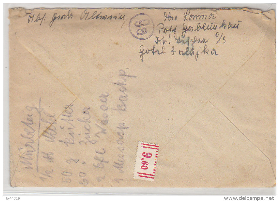 LANDPOST  (9a) Oberlomna über Jablunka 16.10.44 Mit Inhalt - Briefe U. Dokumente