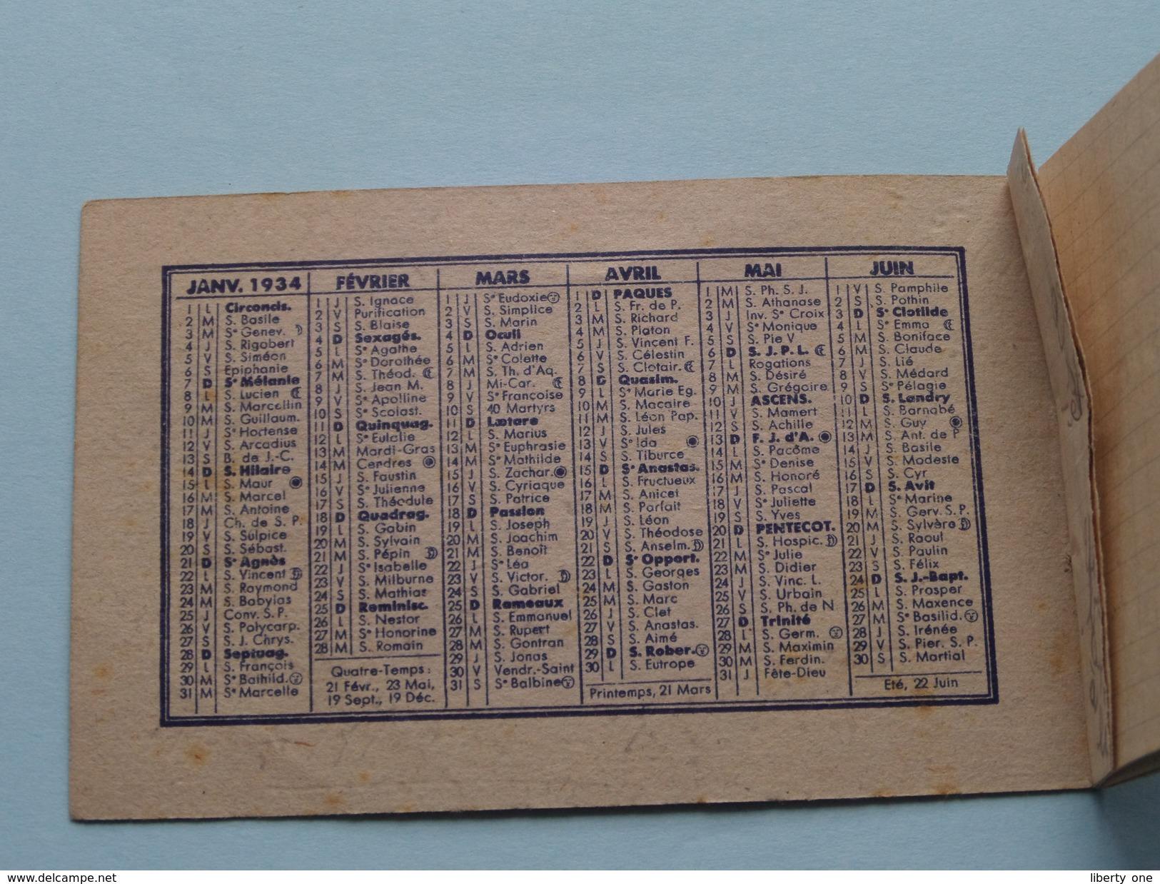 Carnet De Notes Novémys / Képhiline Pharmacies Genneau Bordeaux : Anno 1934 ( Zie Foto´s Voor Detail ) ! - Kalenders