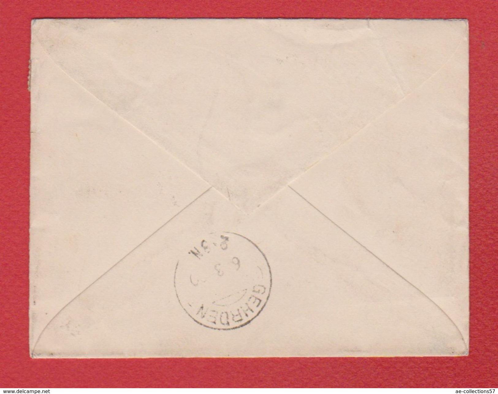 Enveloppe  / De Nice /  Pour Hannovre / Mars 1890 - Marcophilie (Lettres)