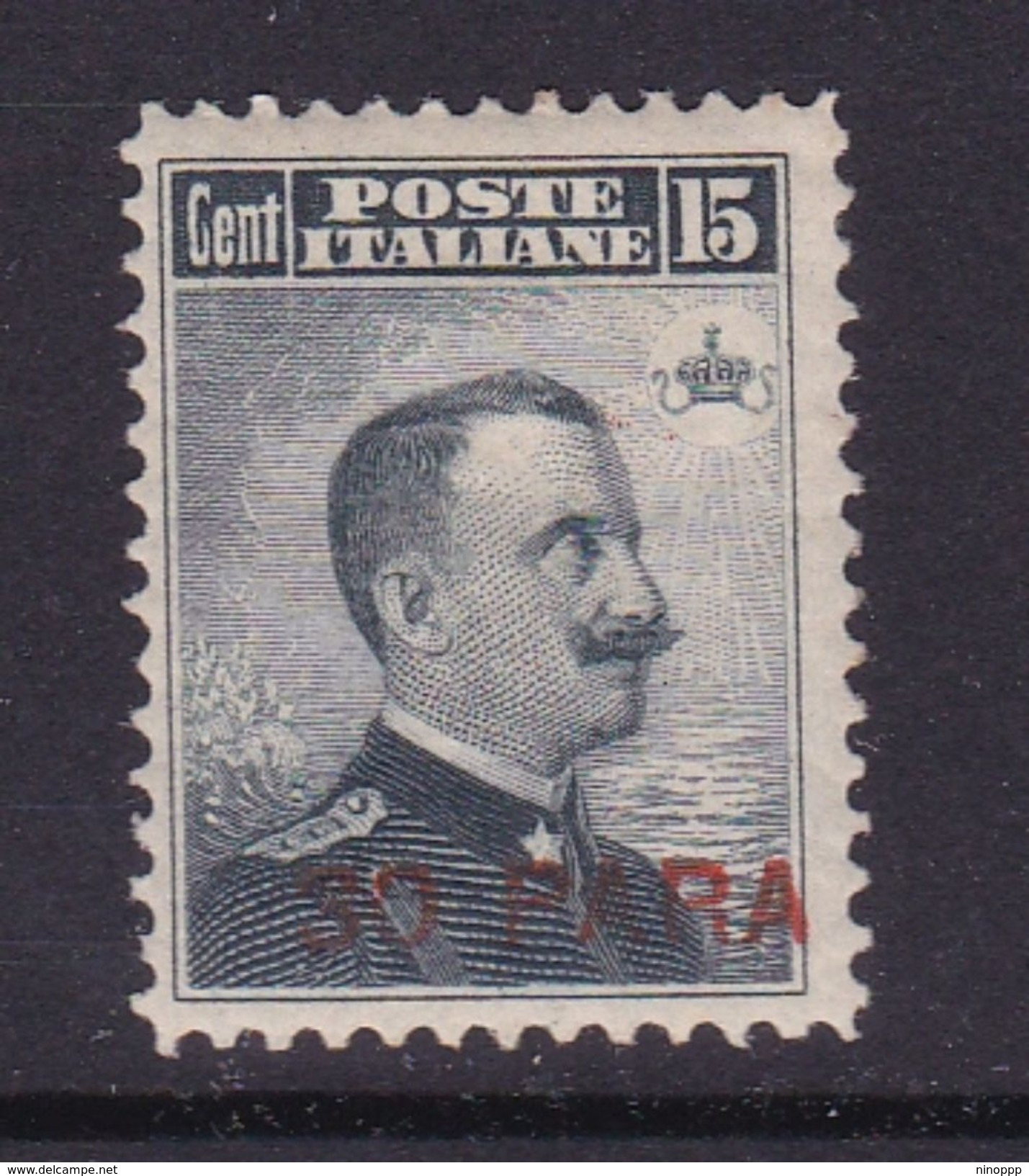 Italy-Italian Offices Abroad-European And Asia Offices-Constantinople S15 1908  30 Para On 15c Grey Black MH - 11. Foreign Offices