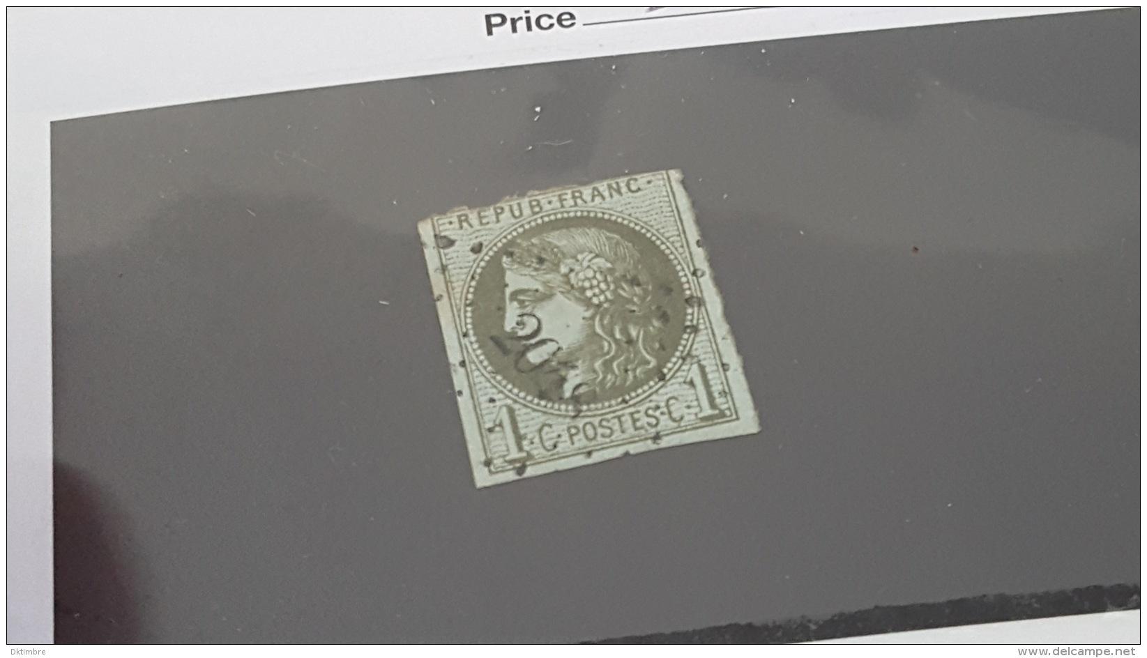 LOT 363823 TMBRE DE FRANCE OBLITERE N°39B VALEUR 200 EUROS  DEPART A 1€ - 1870 Bordeaux Printing