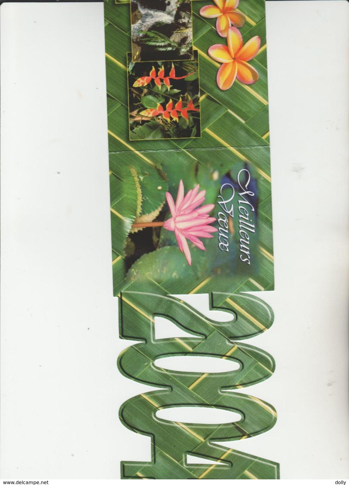 CARTE POSTALE NEUF + CIRCULES DE TAHITI ,MEILLEURS VOEUX DE TAHITI ,, LA ORANA I TE MATAHITI API,, 2 PIECES - Tahiti