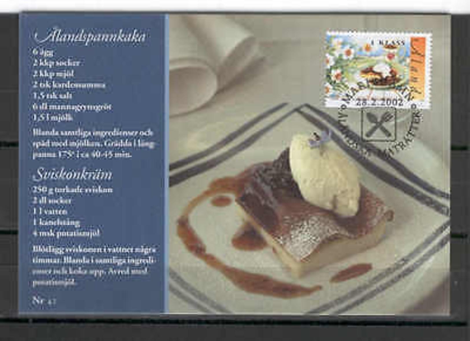 Aland Isl 064 MC 2002 FOOD Pancake - Aland