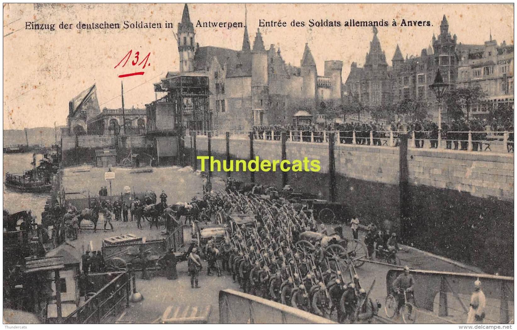CPA FELDPOST WW I WELTKRIEG FELDPOSTKARTE 1914 -1918  EINZUNG DER DEUTSCHEN SOLDATEN IN ANTWERPEN - Weltkrieg 1914-18