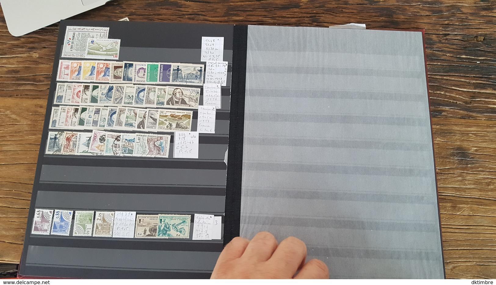 LOT 363837 ALBUM TIMBRE DE FRANCE NEUF**/* OBLITERE   PORT A 10 EUROS - Stamps