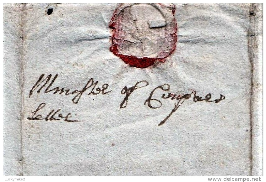 """1702 Letter """"ffor John Ogilby, Baillie Of Conpar(?)"""" From His Brother """"Thomas"""".   Ref 0381 - Autographs"""