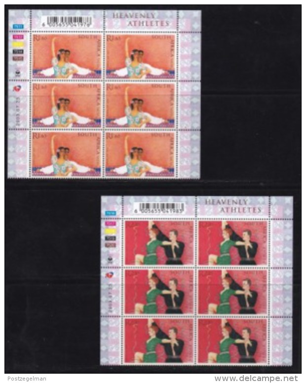 RSA, 2003, Mint Never Hinged Stamp(s), Ballroom Dancing In Controlblocks,  Sa1551-1555, X710 - South Africa (1961-...)