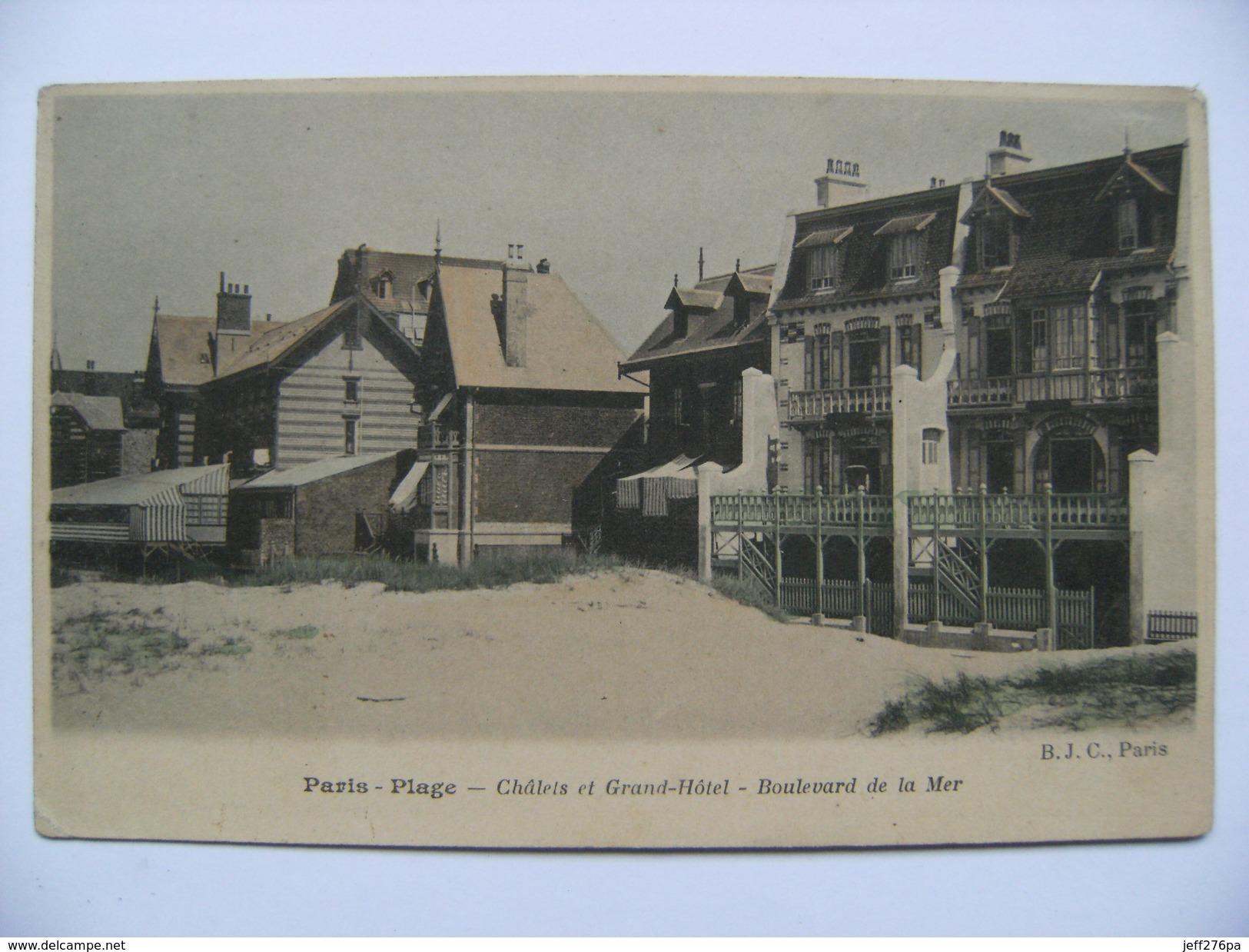 CPA 62 Le Touquet Paris-Plage - Le Boulevard De La Mer - Vue Des Chalets Et Grand-Hôtel    A Voir ! - Le Touquet