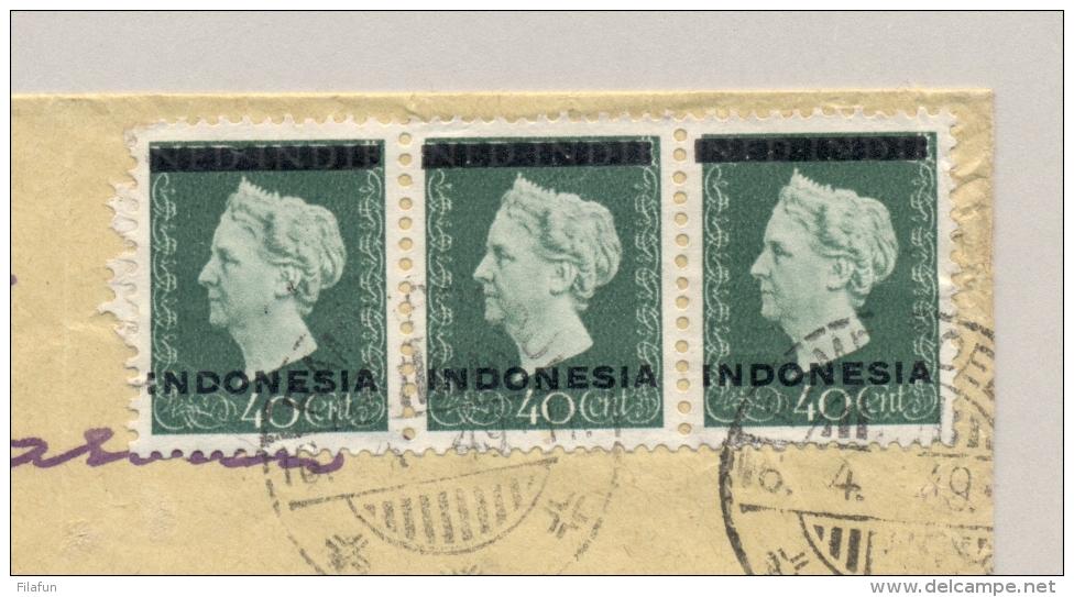 Nederlands Indië - 1949 - 3x 40 Cent Indonesia Opdruk En 2x 10 Cent Kreisler Op LP-cover Van LB RAMBIPOEDJI - Nederlands-Indië