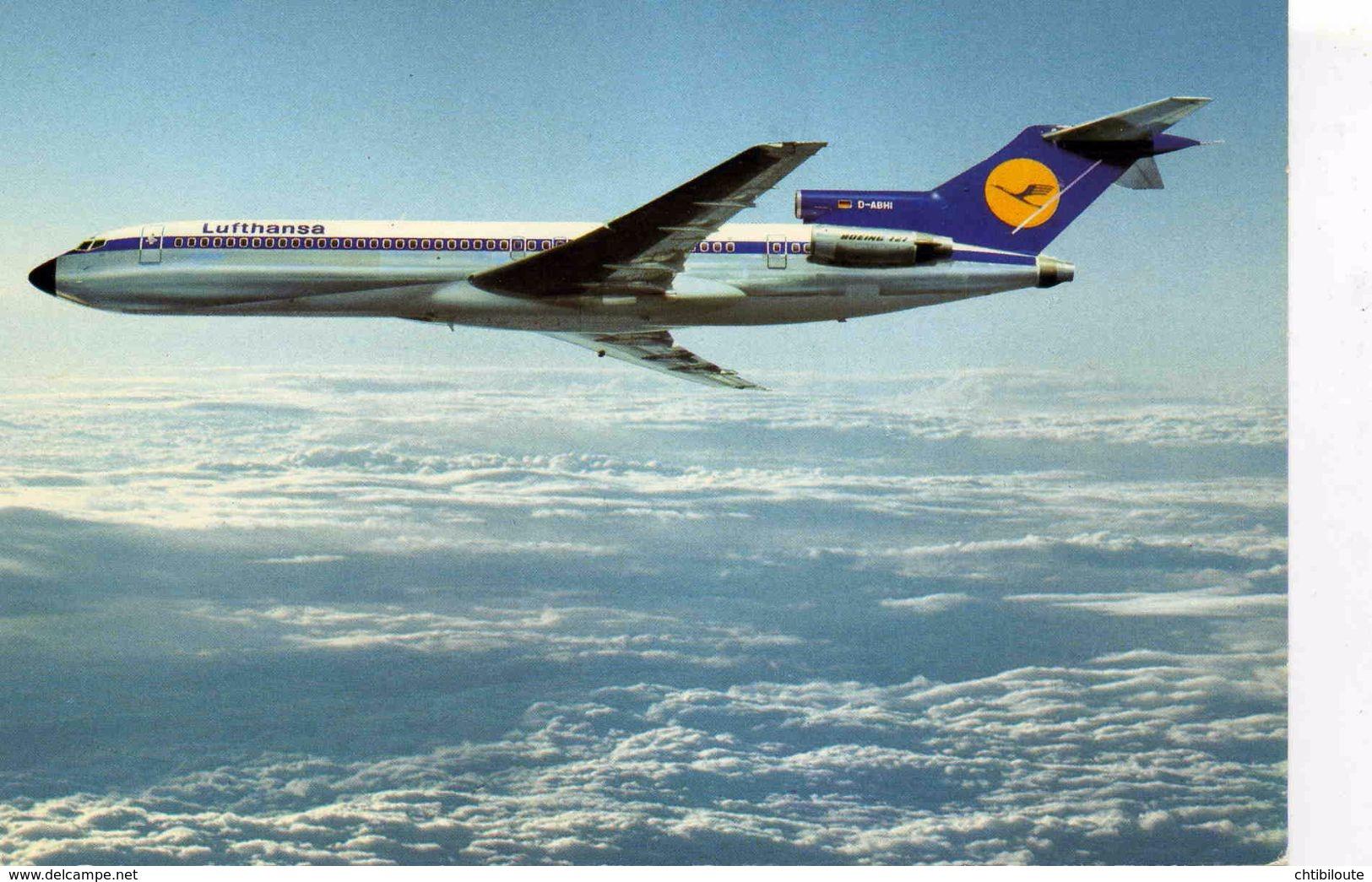 "AVIONS / AEROPORT   /  L 20   /   ""  LUFTHANSA  / BOEING 727      /     ""   CPM / CPSM  10 X 15 - 1946-....: Moderne"