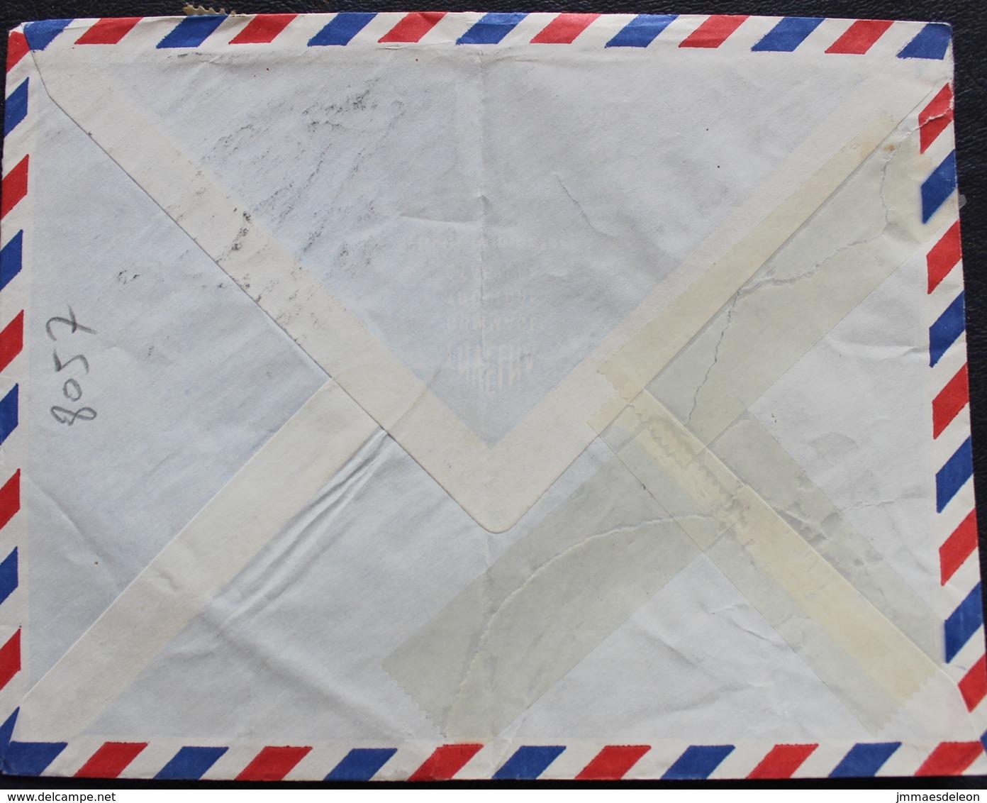Dahomey (Benin) 1969 Cover Porto-Novo To Vichy France - Red Cross - Montebello Battle (damaged Stamp) - Benin - Dahomey (1960-...)