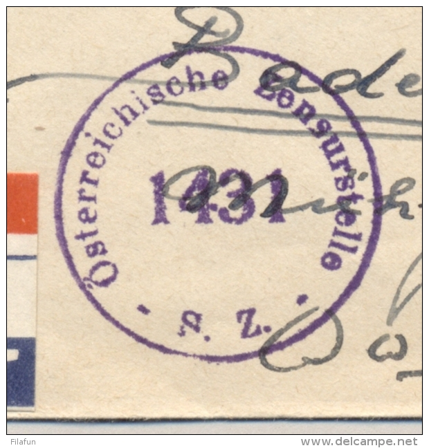 Nederland - 1947 - Nationale Hulp Serie En 7,5 Cent Kind Op Censored R-cover Van Leeuwarden Naar Wien / Österreich - Brieven En Documenten