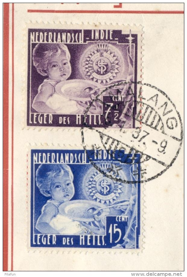 Nederlands Indië - 1937 - Leger Des Heils Serie Op Cover Van Malang/6 Met Openingsvlucht Balikpapan - Tarakan En Terug - Nederlands-Indië