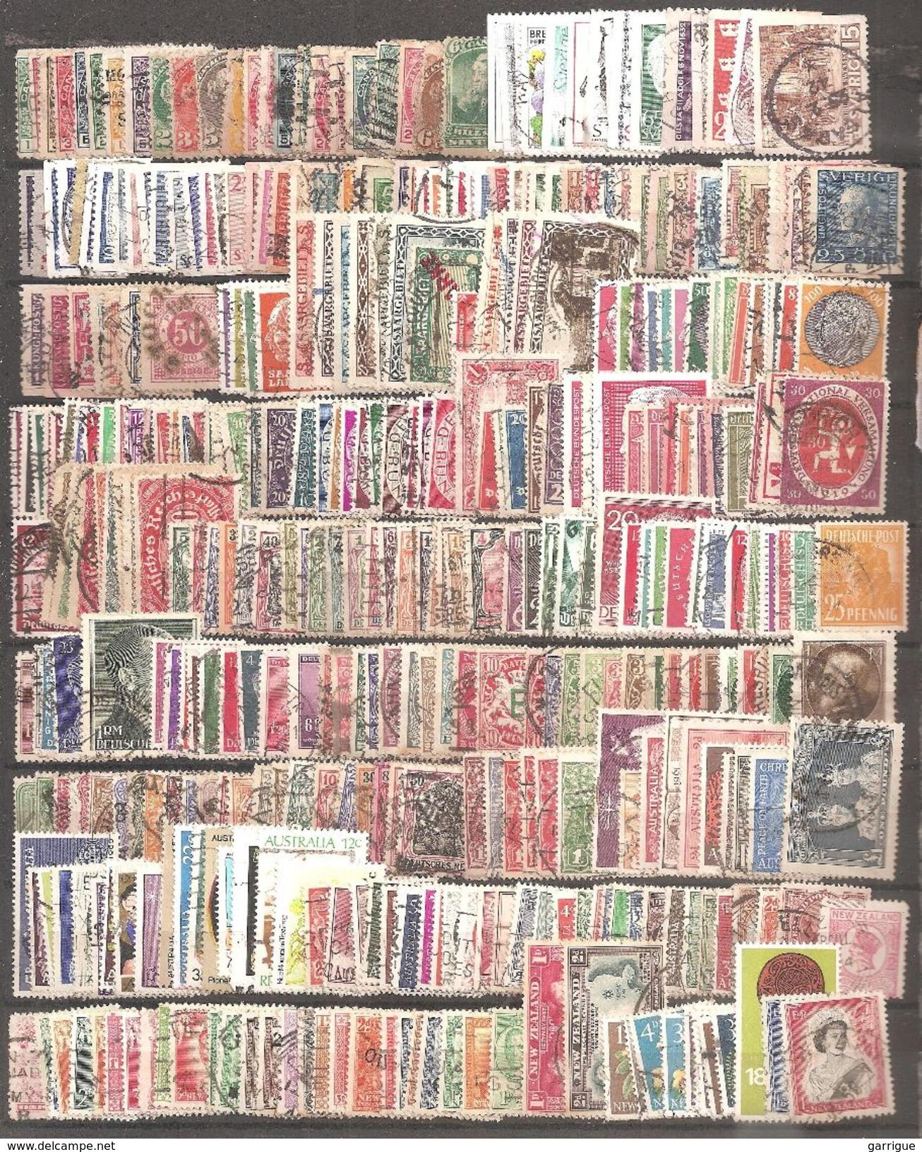 MONDE ENTIER Sauf France : 8000 Différents - Briefmarken