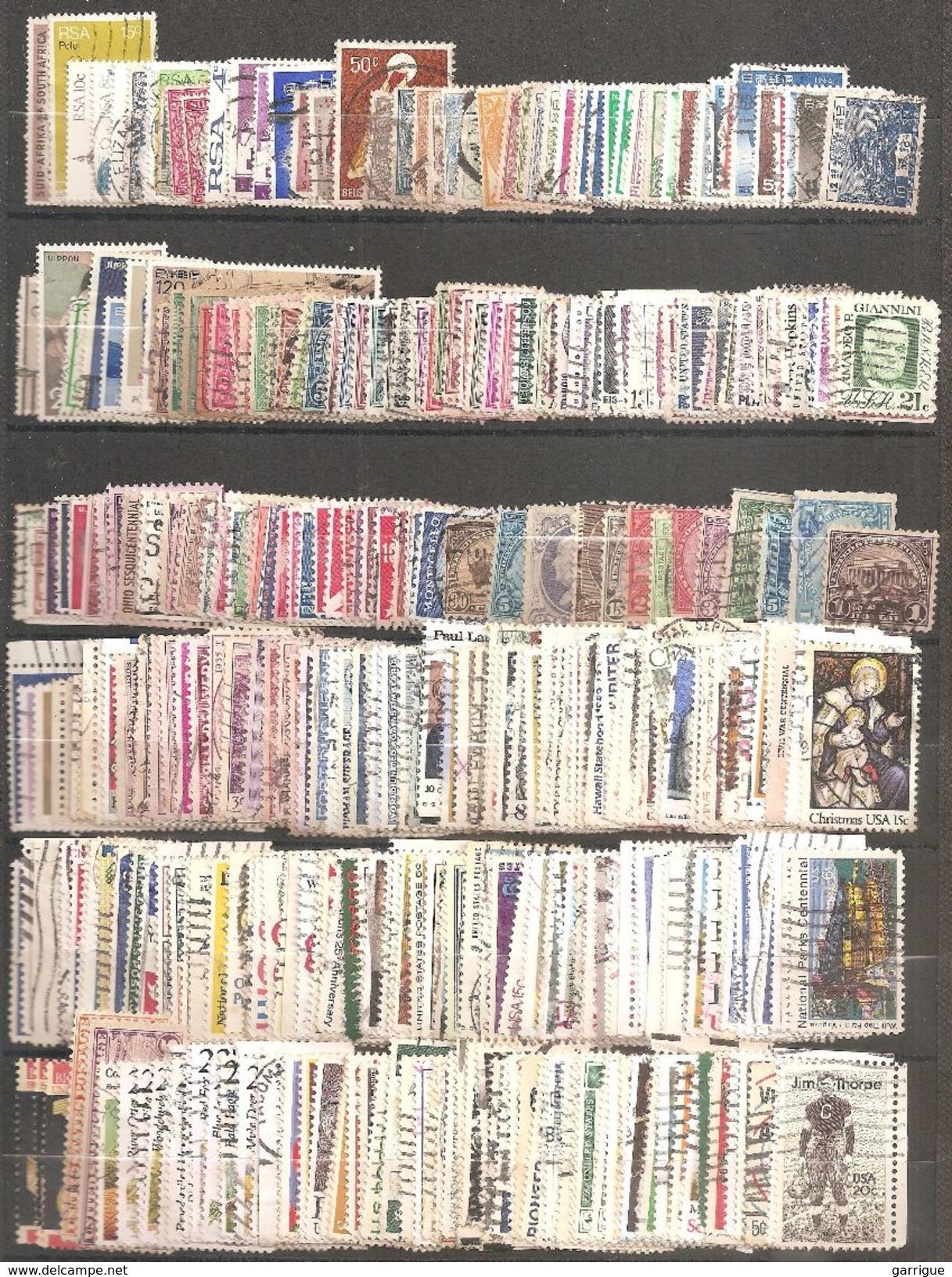 MONDE ENTIER Sauf France : 8000 Différents - Stamps