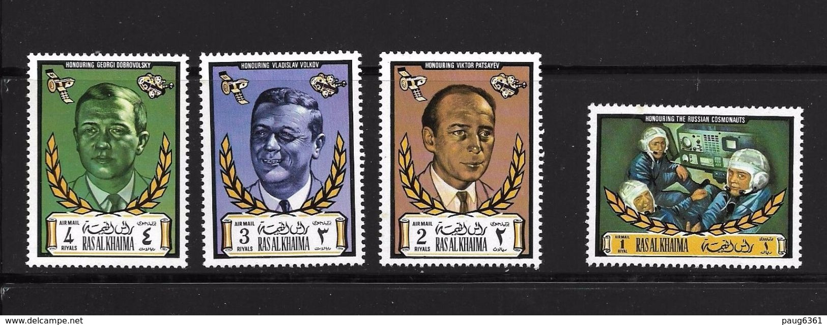 RAS ALKHAIMA 1971 COSMONAUTES RUSSES  YVERT N°77 NEUF MNH** - Space
