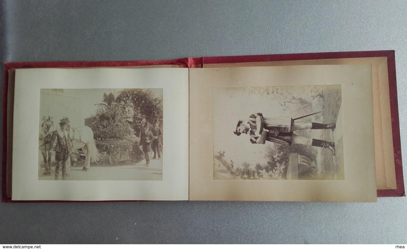 72 - MAMERS - Très Bel Album Photos - Souvenir De La Cavalcade De 1888 - Photographe Paul MAUGER Rue Marolette à Mamers - Photos