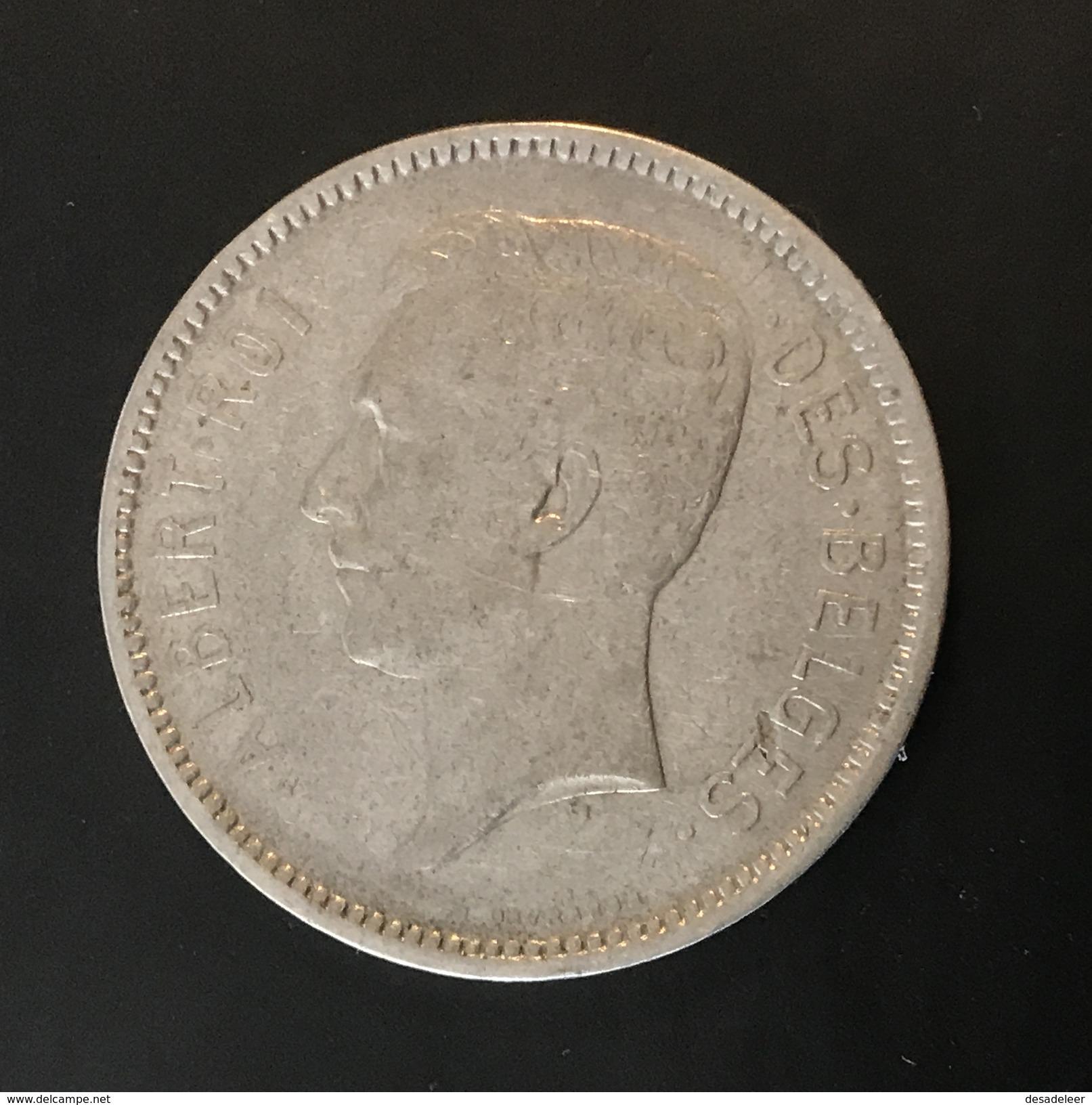 BELGIQUE - BELGIUM - BELGIE - 5 FRANCS 1930 FR - 1909-1934: Albert I