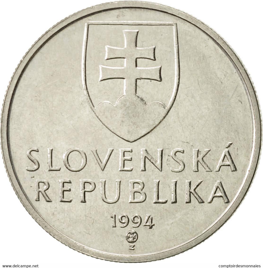 Slovaquie, 5 Koruna, 1994, TTB+, Nickel Plated Steel, KM:14 - Slovaquie
