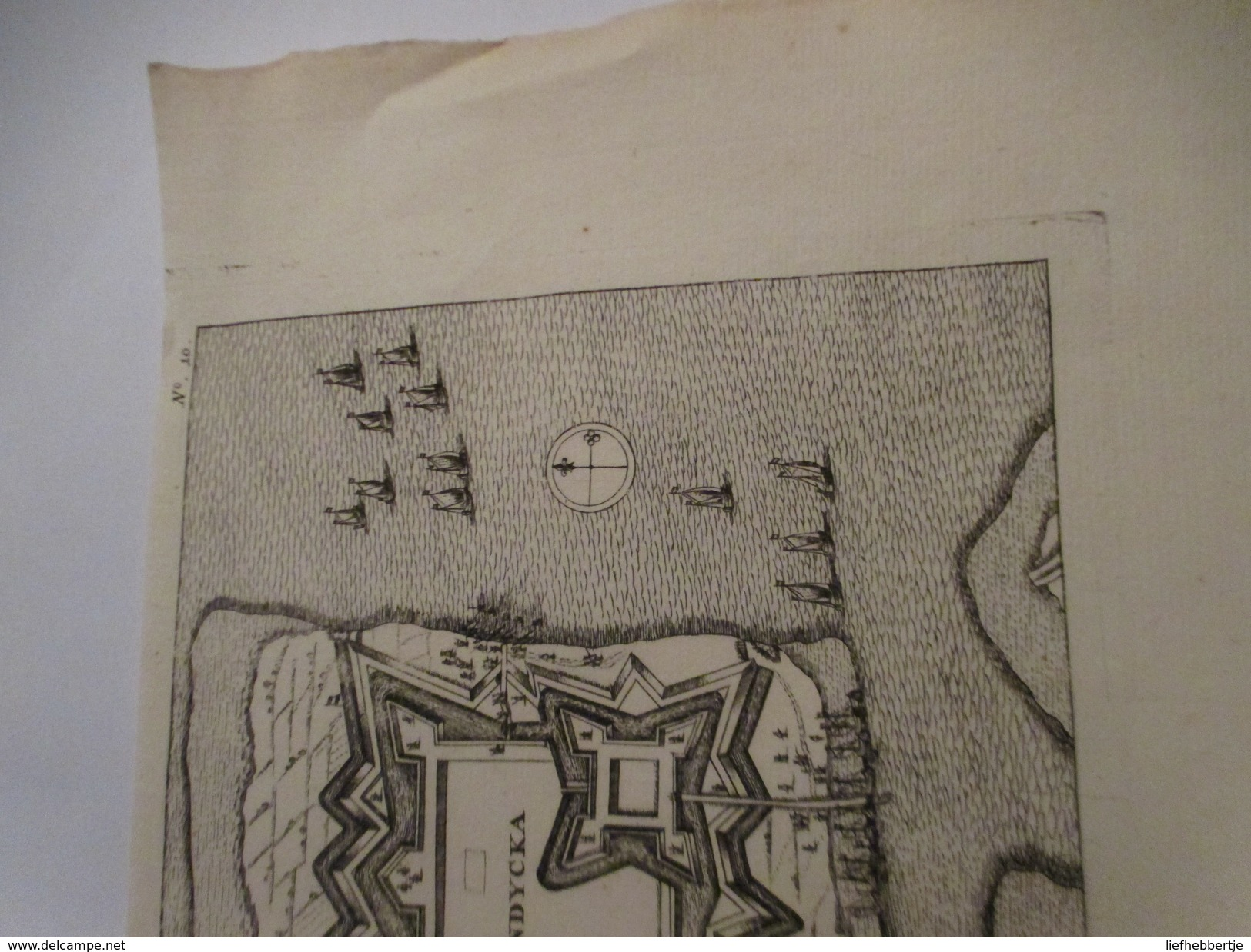 Ijzendijke Bij Sluis  - Zeeland  -   Oude Kaart Uit 1735 - Cartes