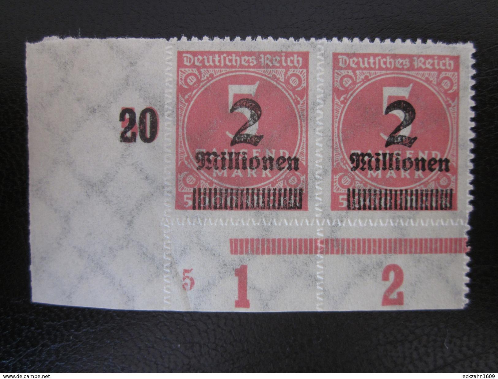 Deutsches Reich Nr. 312 PAAR Eckrand Postfrisch** (B43) - Ungebraucht