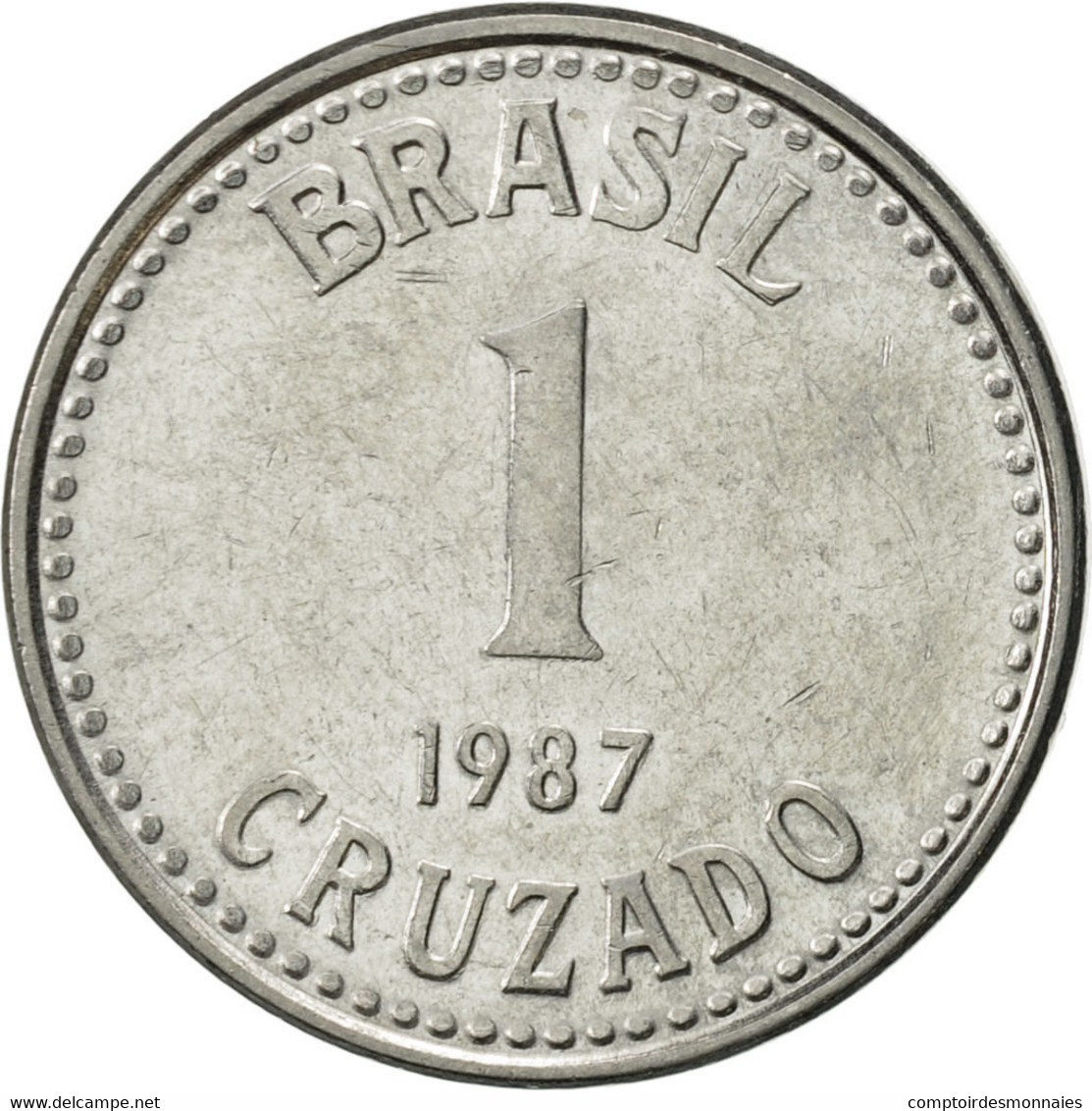 Brésil, Cruzado, 1987, SUP, Stainless Steel, KM:605 - Brésil