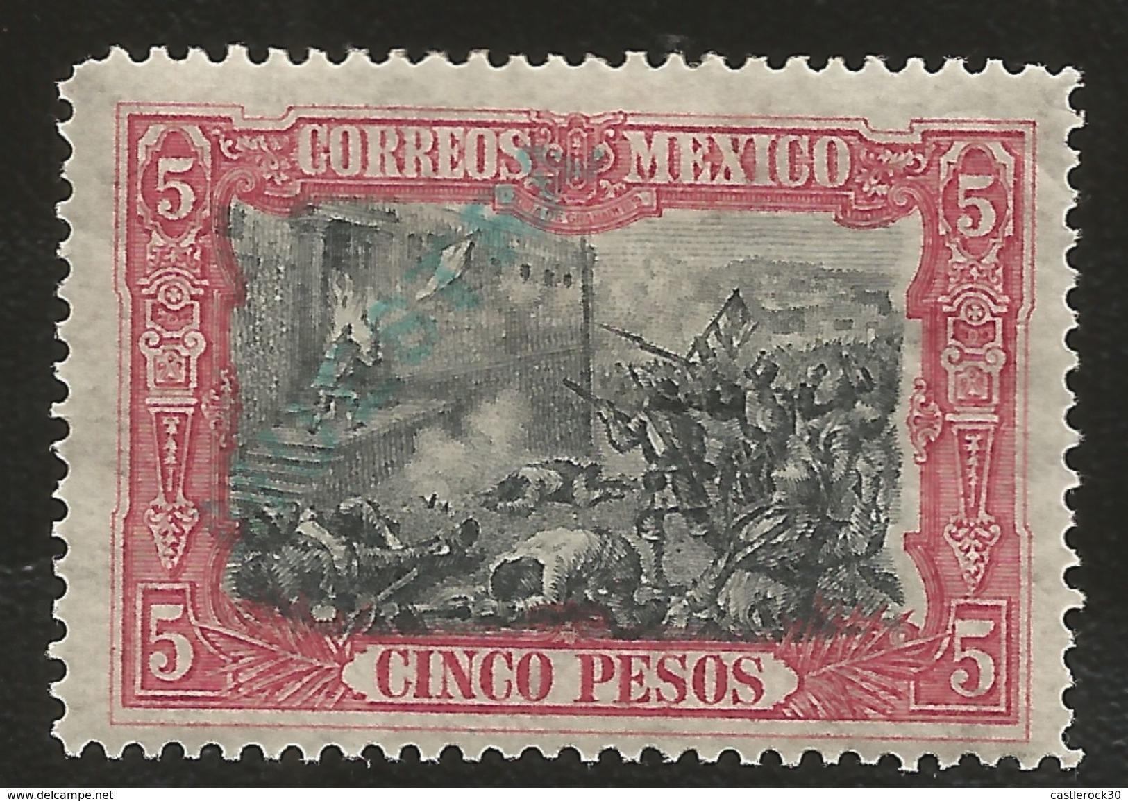 J) 1910 MEXICO, SPECIMEN, CAPTURE OF GRANADITAS, OVERPRINT IN GREEN, MN - Mexico