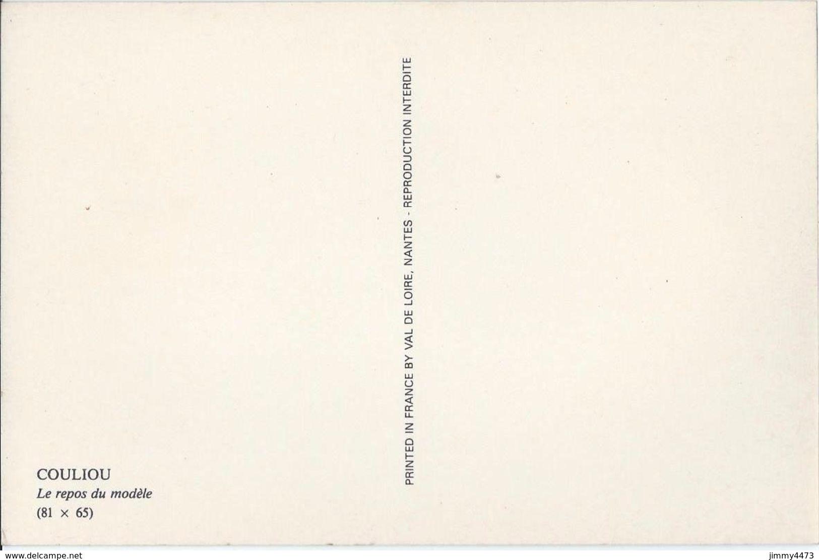 CPM POST CARD - Le Repos Du Modèle - UNE JEUNE FEMME NUE  - Scans Recto-Verso - Photo COULIOU - Romantiques < 1960