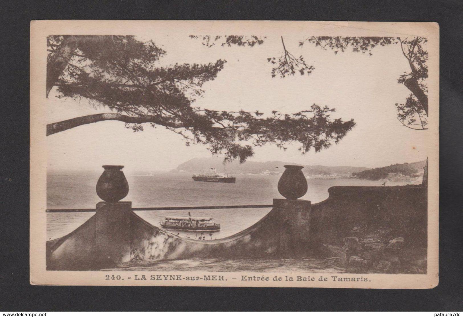 FRANCE / 1927 / Y&T N° 236 : Semeuse Fond Plein 40c Violet - Sur CP (LA SEYNE SUR MER) Du 25/03/1929 - Marcophilie (Lettres)