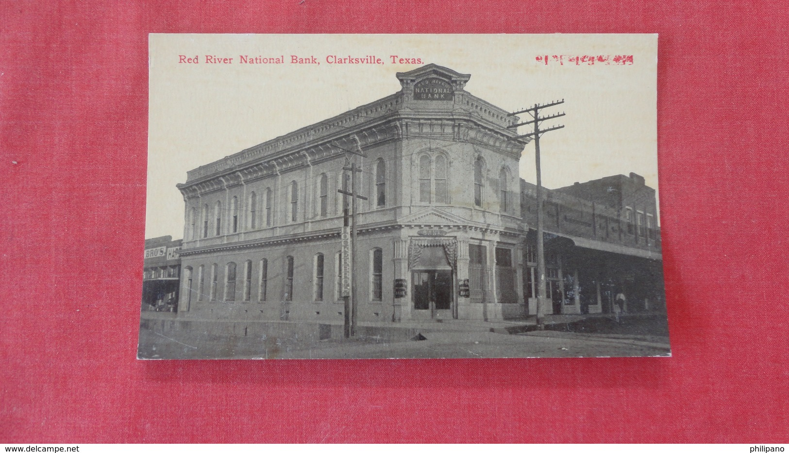 Red River  National Bank Clarksville Texas     Ref 2655 - United States