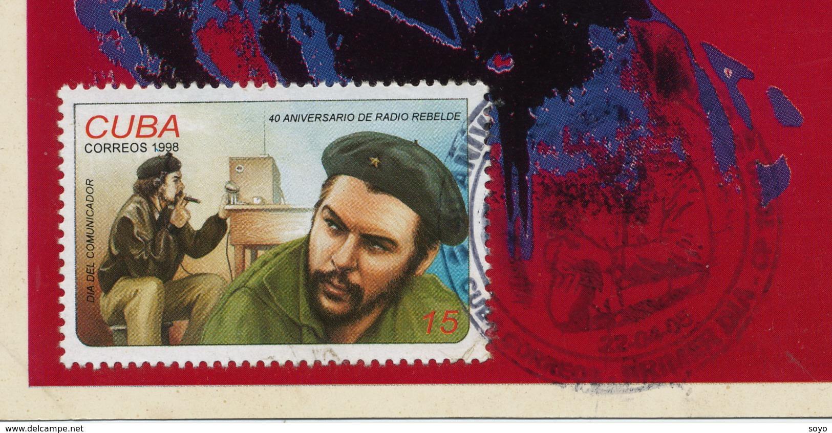 "Maximum  "" Revolutionnaire ""  Ché Guevara Radio Rebelde Dictature Castro Propagande Castriste Format 10/15 - Hommes Politiques & Militaires"