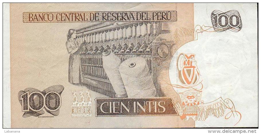 459-Pérou Billet De 100 Intis 1987 B276D B555E - Pérou