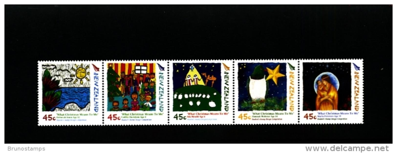 NEW ZEALAND - 2006  CHRISTMAS  STRIP  MINT NH - Blocchi & Foglietti
