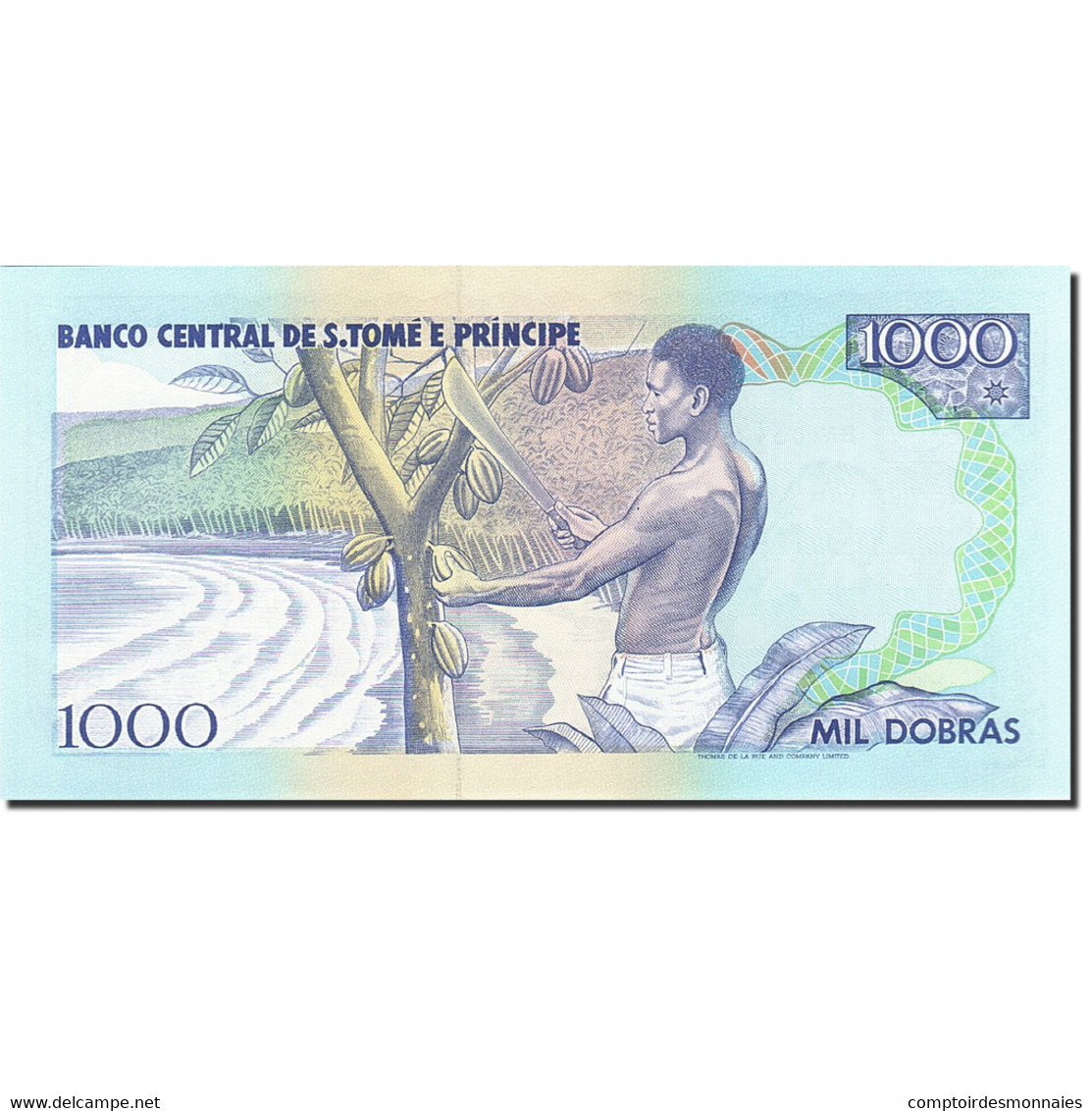 Saint Thomas And Prince, 1000 Dobras, 1993, KM:64, 1993-08-26, NEUF - Sao Tomé Et Principe
