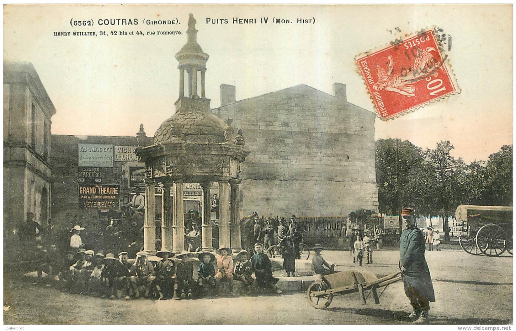 RARE COUTRAS PUITS HENRI IV EDITION  HENRY GUILLIER COULEUR - France