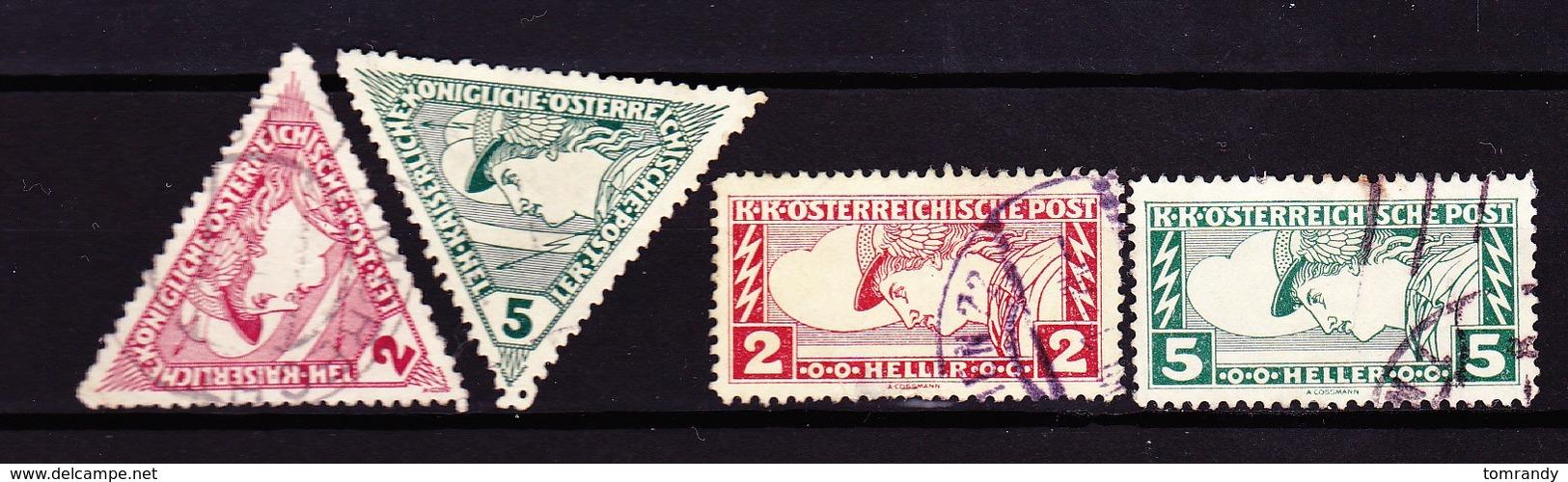 Österreich 1916/17, Eilmarken - Gebraucht