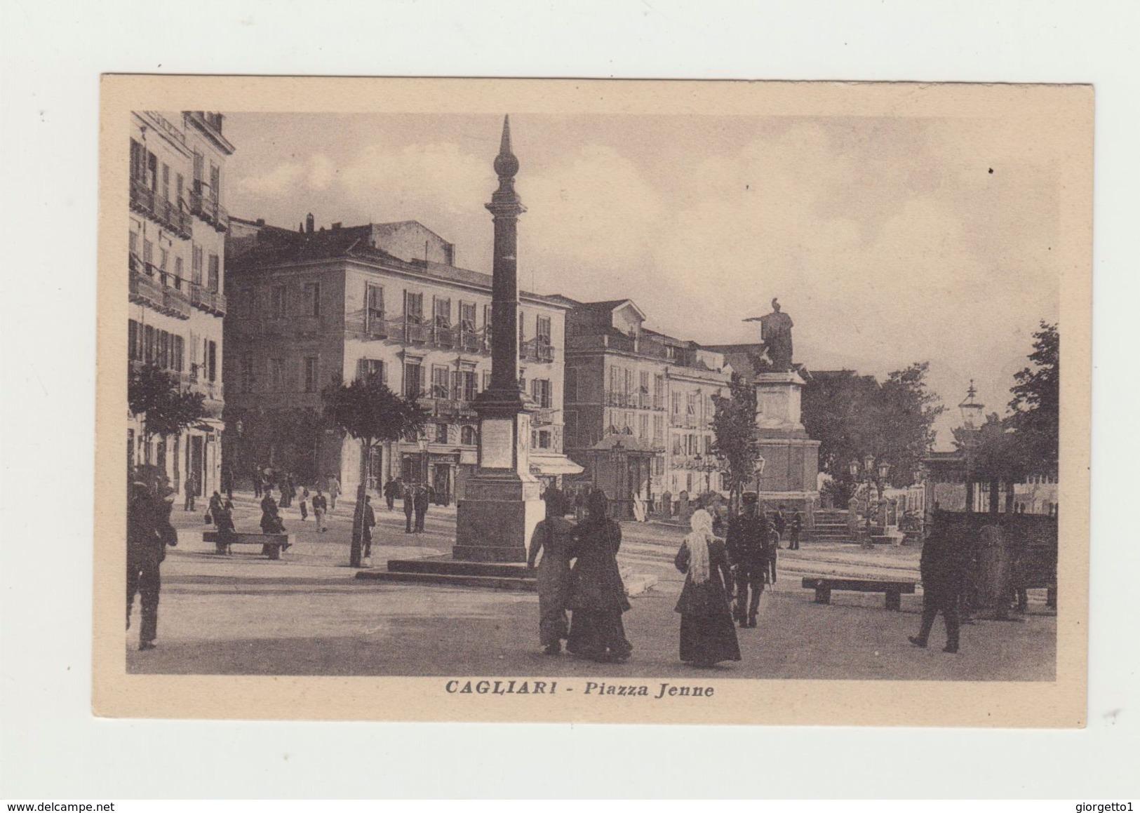 CAGLIARI - PIAZZA JENNE - NON VIAGGIATA - ITALY POSTCARD - Cagliari