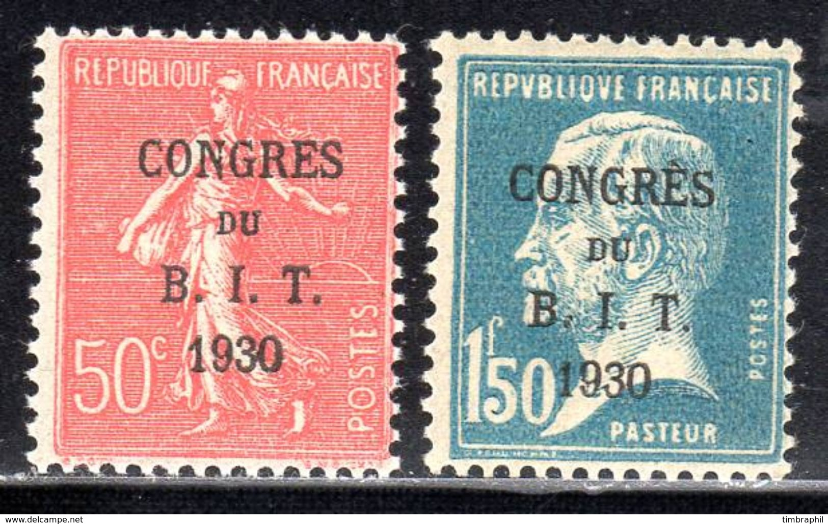 N° 264 & 265 (Congrès BIT 1930) Neufs*: COTE= 24 Euros !!! - Unused Stamps