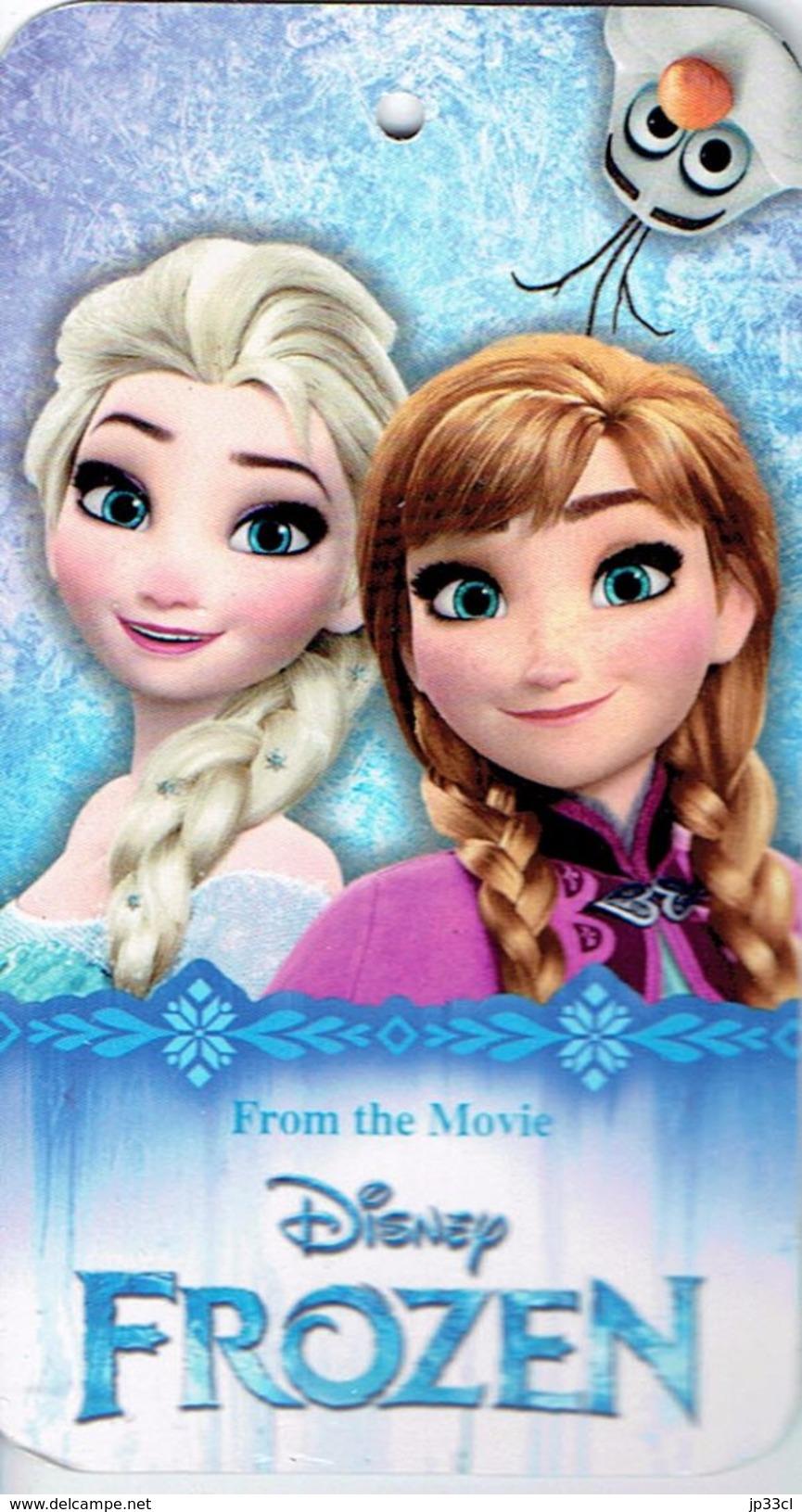 Trading Card Disney Frozen (Reine Des Neiges) - Toalla Playa, Beach Towel, Serviette De Bain - Disney