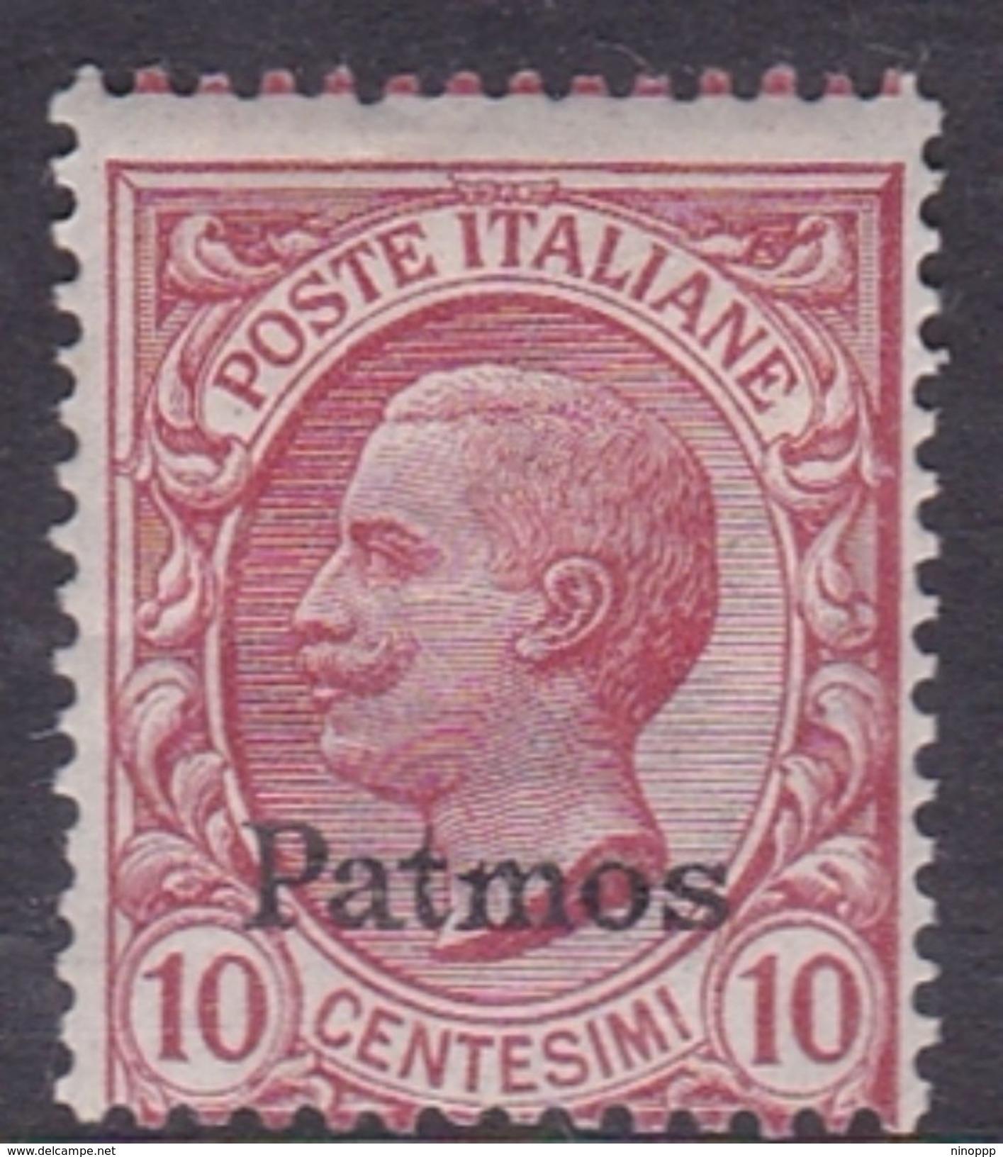 Italy-Colonies And Territories-Aegean-Patmo S 3  1912  10c Claret MH - Egée (Patmo)
