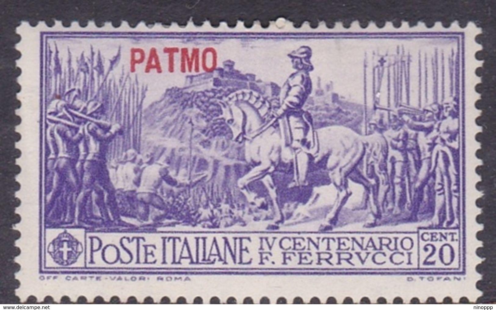 Italy-Colonies And Territories-Aegean-Patmo S 12 1930 Ferrucci 20c Violet MH - Aegean (Patmo)