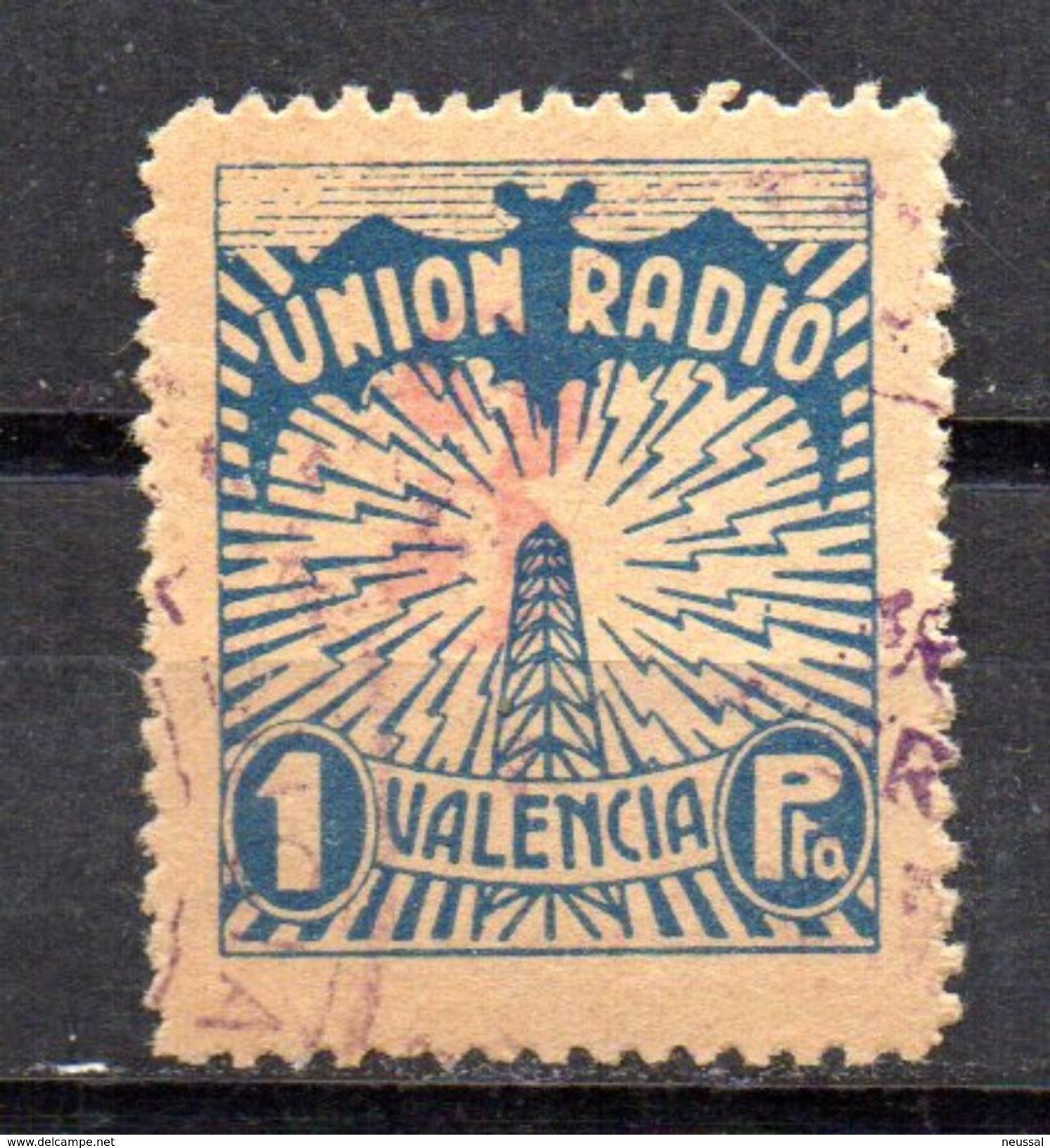 Viñeta Nº 69 Union Radio.  Valencia. - Viñetas De La Guerra Civil