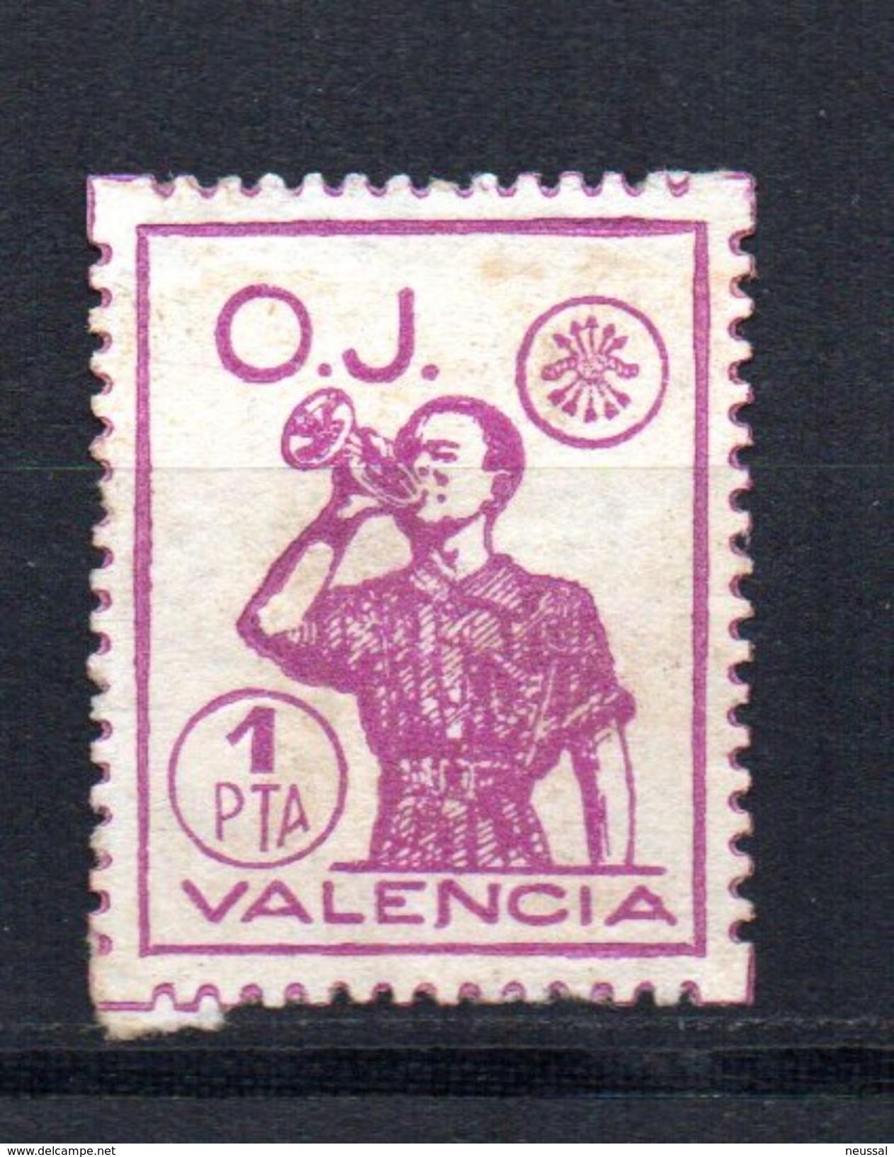 Viñeta Nº 82  OJ   Valencia. - Viñetas De La Guerra Civil
