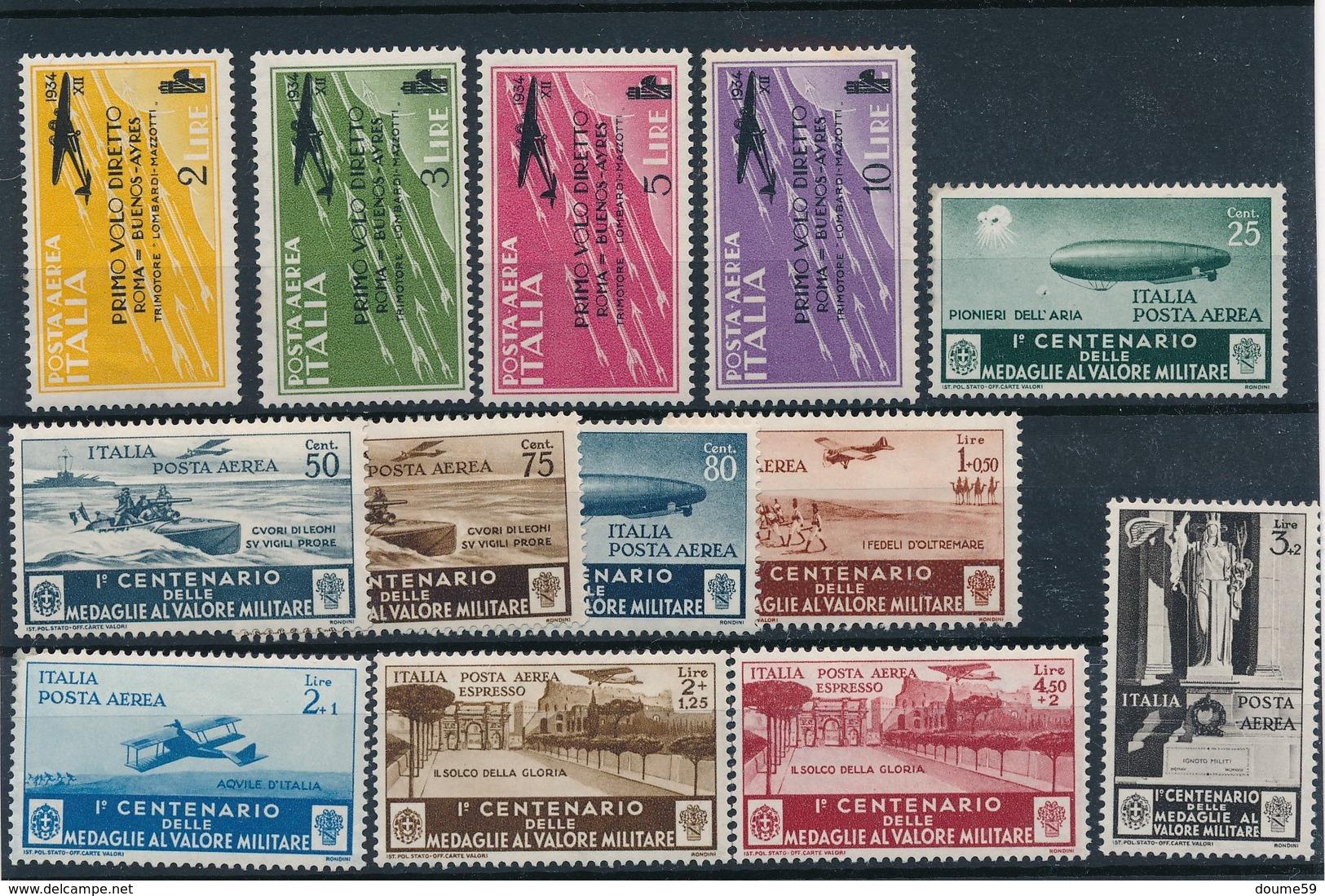 BI-315 :ITALIE :   Lot  PA* Avec N°52/55-69/77 - 1946-.. République