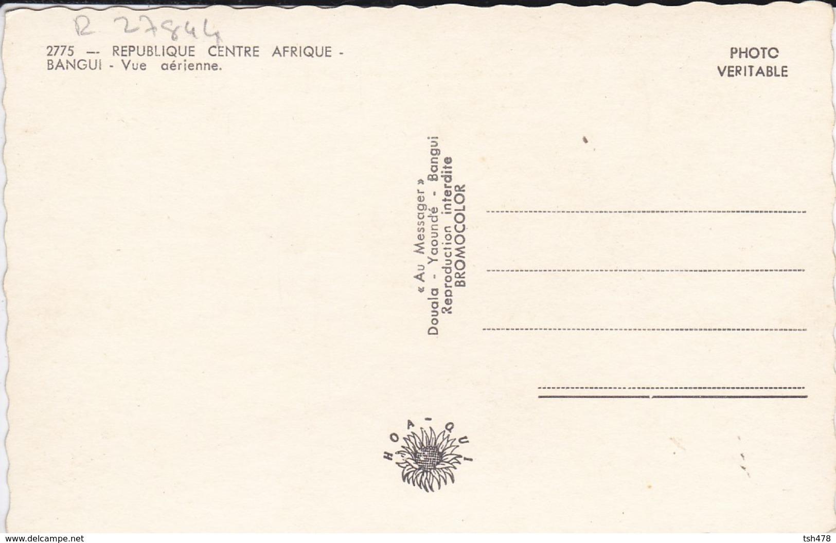 CENTRAFRICAINE--RARE---BANGUI---vue Aérienne--voir 2 Scans - Centrafricaine (République)