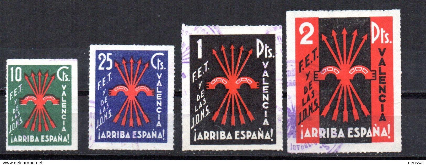 Viñetas  Nº 83/6 FET Y De Las JONS    Valencia. - Viñetas De La Guerra Civil